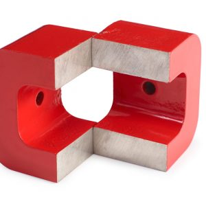 Alnico pot magnets with bridge: One Through Hole-0