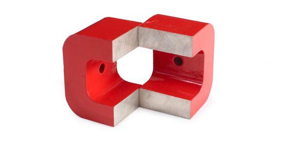 Pots magnétiques avec pont un trou central passant-0