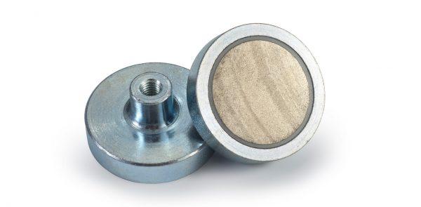 Pots magnétiques de samario avec filetant intérieur-0