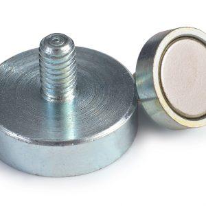 Base magnética de Neodimio con roscado exterior-0