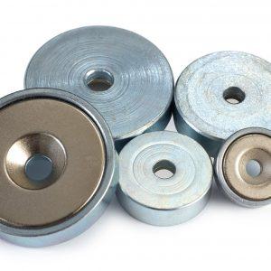 Countersunk pot neodymium magnets -0