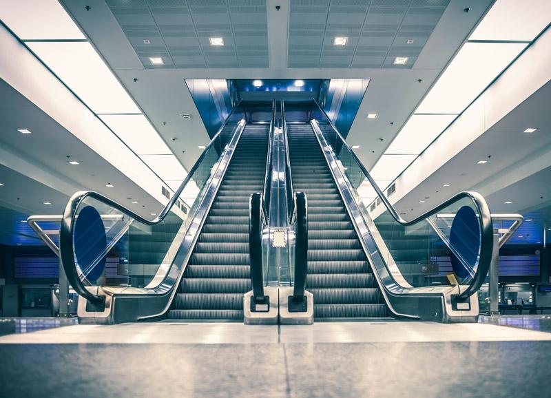 electroimanes en escaleras