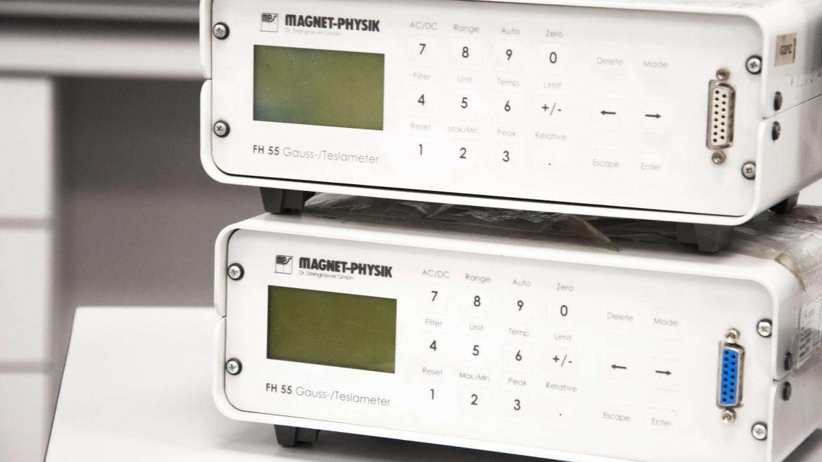 Podemos hacer una medición magnética con gausímetros