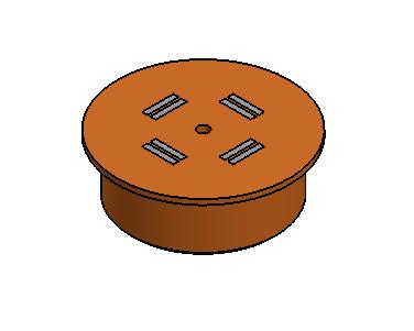 Imán circular Poliuretano